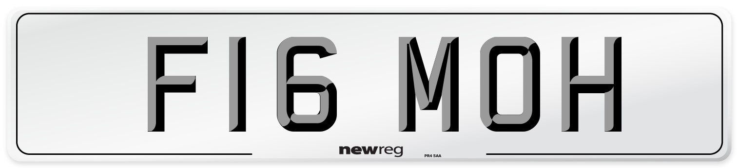 F16 MOH Number Plate from New Reg